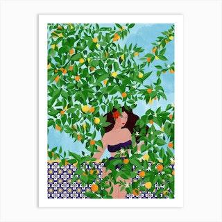 Sevilla Girl Art Print