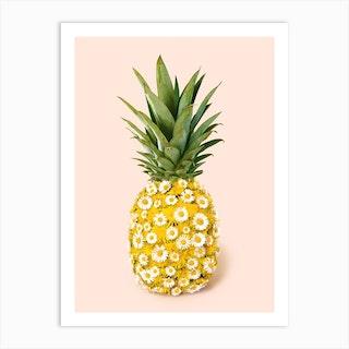 Daisy Pineapple Art Print