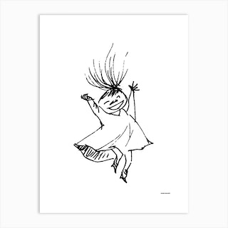 The Moomin Drawings Collection Happy Mymble Art Print