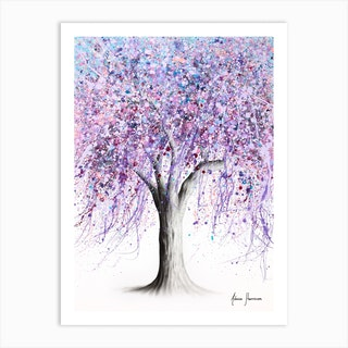 Wisteria Wisdom Tree Art Print