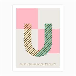 U Typeface Alphabet Art Print