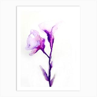 Purple Softness Art Print
