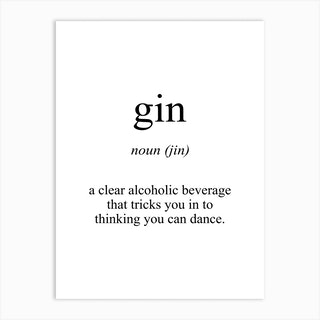 Gin Meaning Art Print