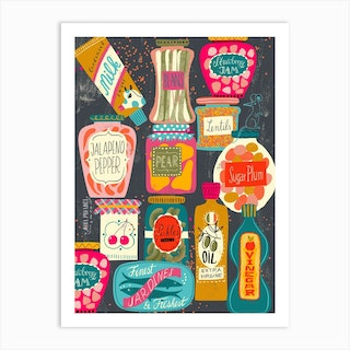 Colorful Pantry 2 Art Print