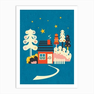 Winter Hut Art Print