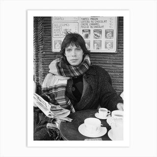 Mick Jagger Lead Singer With The Rolling Stones Pictured In Paris France In January 1985 Art Print