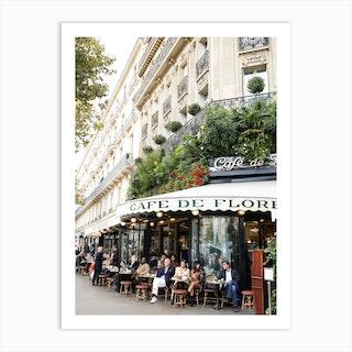 Cafe De Flore Paris Art Print