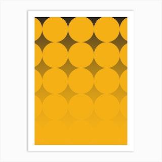 Circling Yellow Art Print