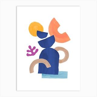 Stack Pastel Art Print