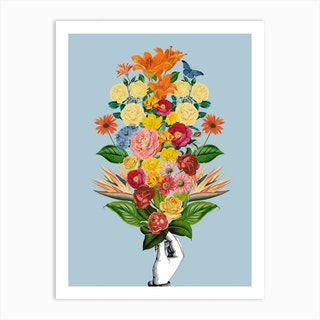 Botanical Blue Art Print