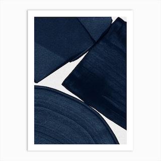 Minimalist Painting Blue Ii Art Print
