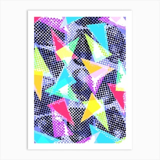 Spots And Triangles Art Print