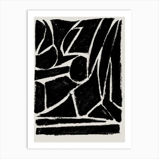 Things Fall Apart Black Art Print