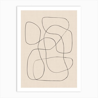Abstract Scribble On Paper 3 Art Print