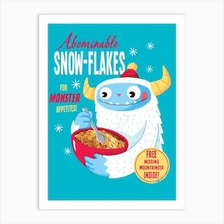 Abominable Snowflakes Art Print