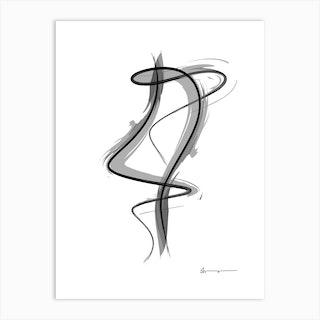 Spiral Strokes 8 Art Print