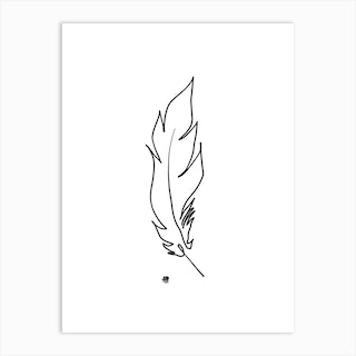 Touched By A Feather Art Print
