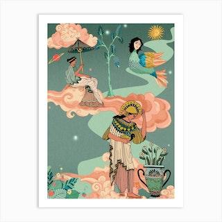 Greek Goddesses Art Print