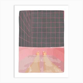 Pink Bathroom Art Print