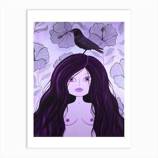 Crow Maiden Art Print