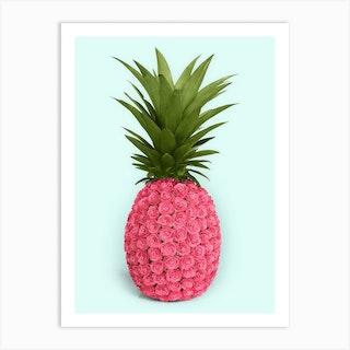 Pineapple Roses Art Print