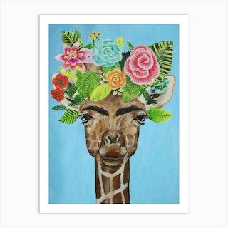 Frida Kahlo Giraffe Art Print