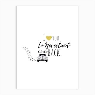 To Neverland By Car Peter Pan  Art Print