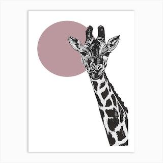 Gerry Giraffe 2 Art Print