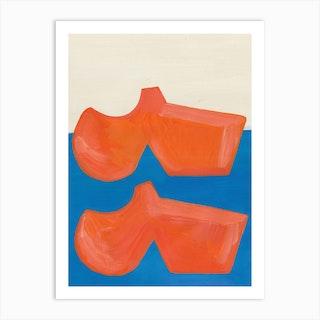 Orange Shoes Art Print