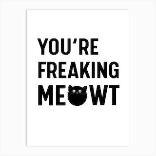 Cat Meowt Art Print