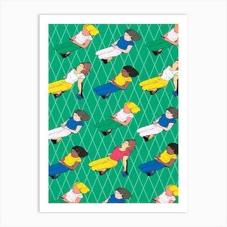 Mujeres Art Print