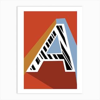 A Geometric Font Art Print