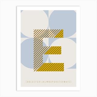 E Typeface Alphabet Art Print