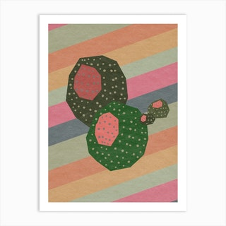 Geometrical Abstract Cactus 3 Art Print