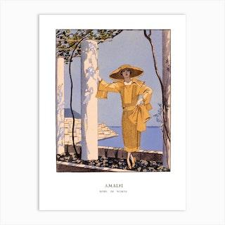 Amalfi, George Barbier Art Print