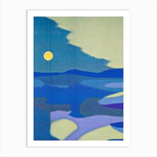 Blue Dunes Art Print