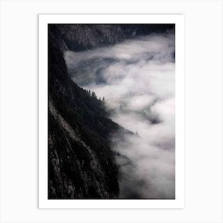 Fantastic Foggy Morning In The Mountains Alpen Konigsstein Art Print