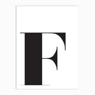F Initial Art Print