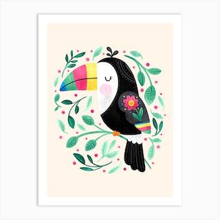 Cheeky Toucan Art Print