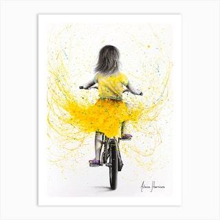 Beach Daisy Ride Art Print
