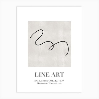 Line Art Abstract Collection07 Art Print