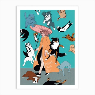 Cats & Dogs Art Print