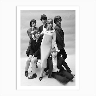 Pattie Boyd and The Rolling Stones, John French Art Print