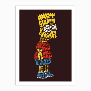 Bart Simpson Art Print