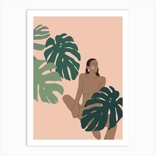 Jungle Girl 5 Art Print