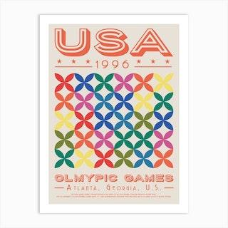 Usa 1996 Olympic Art Print