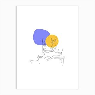 Jazz Night Art Print