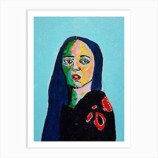 Malamente Portrait Art Print