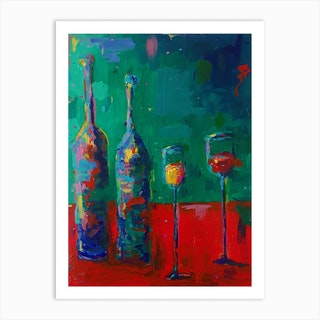 Prosecco And Red Wine Art Print