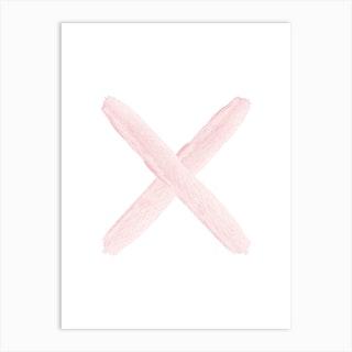 Blush Pink X Art Print